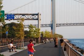 Shore Parkway Bike Path Before Hurricane Sandy