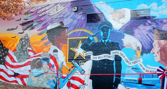Bay Ridge Community Mural Honors Vets Through The Years