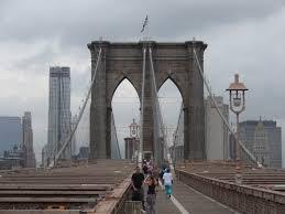 Attention-getting Brooklyn Bridge