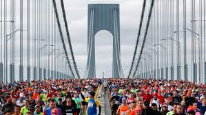NYC Marathon Begins in Staten Island on the Verrazano-Narrows Bridge