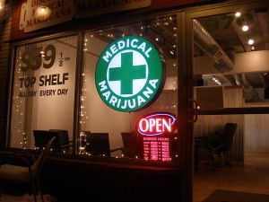 Discount Medical Marijuana cannabis shop at 970 Lincoln Street, Denver. Colorado. Photo by O'Dea