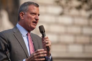 NYC Mayor Bill de Blasio. Photo by Kevin Case