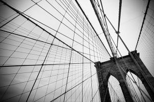 Protesters walk across Brooklyn Bridge. Photo by Carmelo Bayarcal.