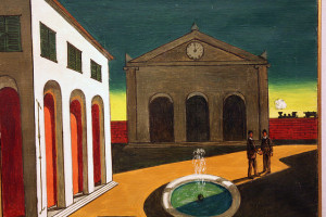 Painting by Giorgio de Chirico. Photo by Luca Allievi