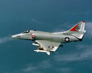 Kirk Rimer: U.S. Navy Douglas A-4E Skyhawk aircraft 1967. Photo by Robert Huffstutter