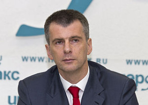 Mikhail Prokhorov, Russian politician. Taken at Press center of Interfax, Moscow. Photo by A.Savin
