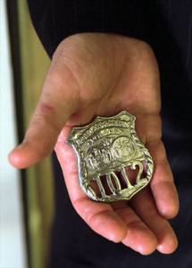 Badge number 1012, of Port Authority of New York and New Jersey Police Officer and 9/11 attack victim George Howard.