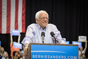 Bernie Sanders at a rally in New Orleans, Louisiana, July 26, 2015. Photo by Nick Solari