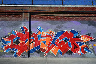 Example of Street art in East Williamsburg / Bushwick, NYC. by Monk