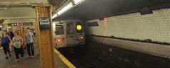 Leaning Bars Bring Boos in Brooklyn Train Station