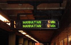 Train Clock Gives Commuters Heads Up at Home